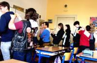 Žáci deváté třídy během programu opřátelství.