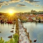 A historical part of Prague, the capital of Czech Republic.