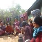 Modlitební skupinka žen.