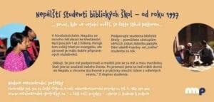 Leták - studenti biblických škol
