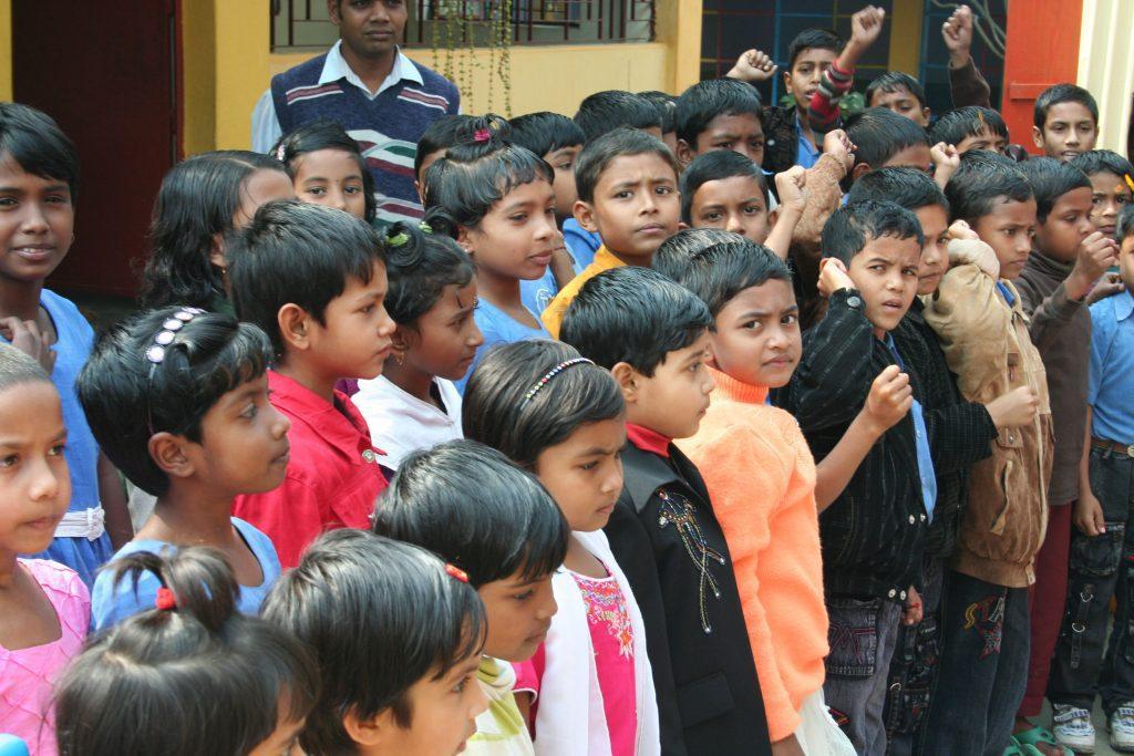 Dívky v Bangladéši ve škole