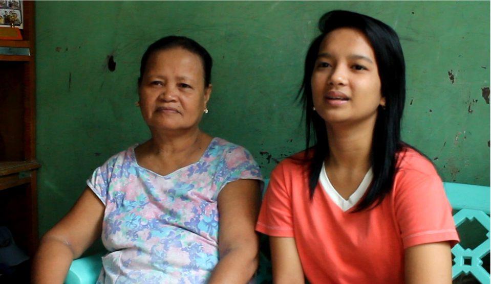 Marielle se svou milující babičkou.